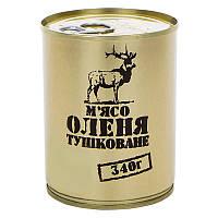 Тушонка з оленини, консерва (340г), ж/б