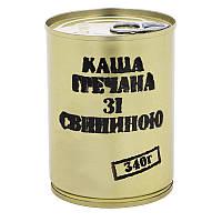 Тушонка з свинини з гречаною кашею, консерва (340г), ж/б