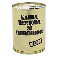 Тушонка з свинини з перловою кашею, консерва (340г), ж/б