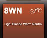 8WN (теплый светлый блондин натуральный) Тонирующая крем-краска для волос без аммиака Matrix Color Sync,90 ml, фото 2