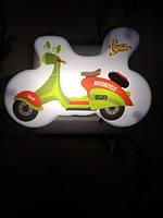 Ночник детский от сети мотоцикл  YP-401 ночная лампа
