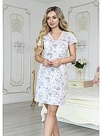 Ночная рубашка Роксана Marshmellow 849 L Серо-розовый (Х_849_Marshmellow)
