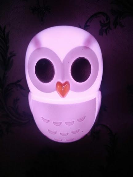 Энергосберегающий Ночник детский от сети Сова ночная лампа