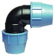 Колено зажимное ПНД (угол) для полиэтиленовой трубы