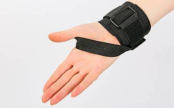 Лямка для рук с петлей (1шт) FI-6955 (нейлон, р-р 24х6,8см, черный), фото 3