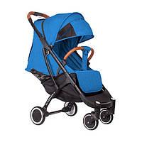 Детская прогулочная коляска YOYA plus 4 с утеплителем и большим дождевиком синяя, фото 1