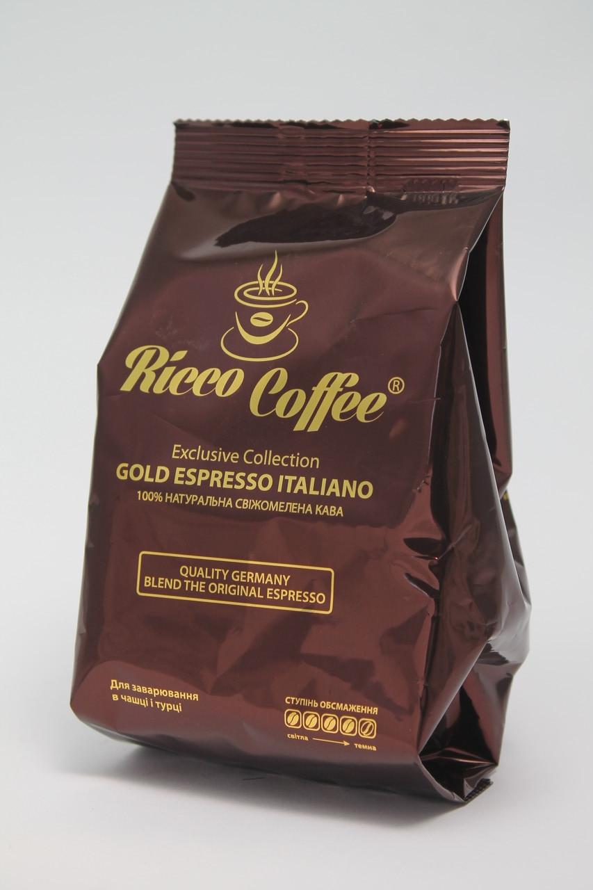 Кофе Молотый Ricco Coffee Gold Espresso 70 гр Украина