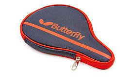 Чехол на ракетку для настольного тенниса BUTTERFLY 62140006 NAKAMA (PL, черный-красный,р-р 30х3х19см)
