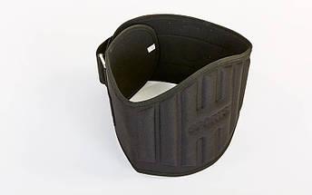 Пояс атлетический усиленный регулируемый 103A (р-р 105x25см, XL-3XL, черный), фото 2