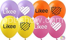 Воздушные шары Likee TM Show (100 штук)