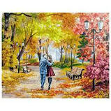 "Картина по номерам Белоснежка  ""Осенний парк, скамейка, двое"" 142-AB, фото 3"
