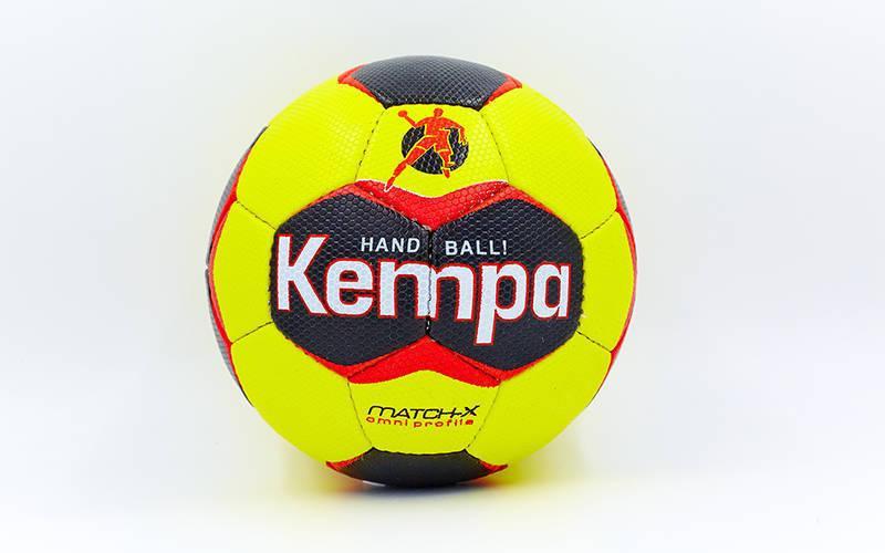 Мяч для гандбола KEMPA HB-5408-3 (PU, р-р 3, сшит вручную, желтый-черный)