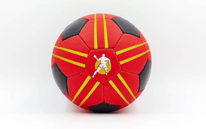 Мяч для гандбола KEMPA HB-5409-2 (PU, р-р 2, сшит вручную, черный-красный), фото 2