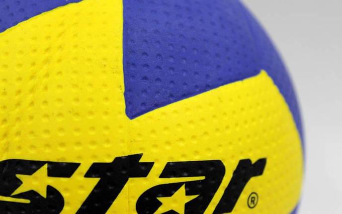 Мяч для гандбола Outdoor покрытие вспененная резина STAR JMC001 (PU, р-р 1, синий-желтый), фото 2