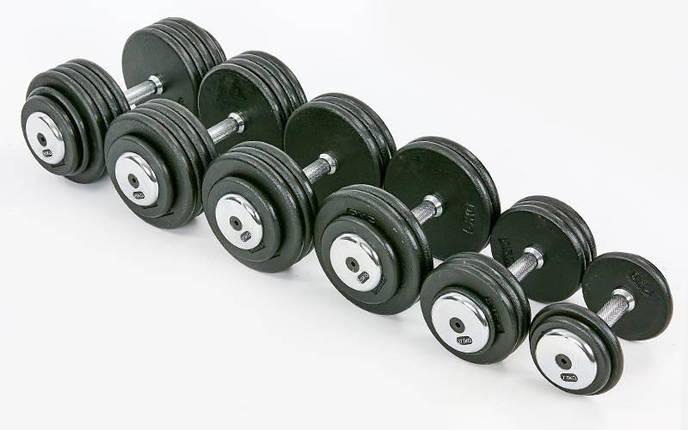 Гантель цельная профессиональная стальная RECORD (1шт) TA-7231-7_5 7,5кг (сталь, сталь хромированная, вес7,5 кг), фото 2