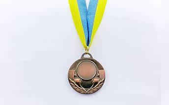 Заготовка медали спортивной с лентой AIM d-5см C-4846 (металл, 25g, 1-золото, 2-серебро, 3-бронза), фото 2