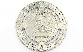 Медаль спортивная без ленты  RAY d-6,5см C-6409 (металл, d-6,5см, 38g 1-золото, 2-серебро, 3-бронза), фото 2