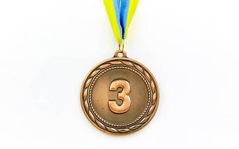 Медаль спортивная с лентой ABILITY d-6,5см C-4841 (металл, 38g, 1-золото, 2-серебро, 3-бронза), фото 3