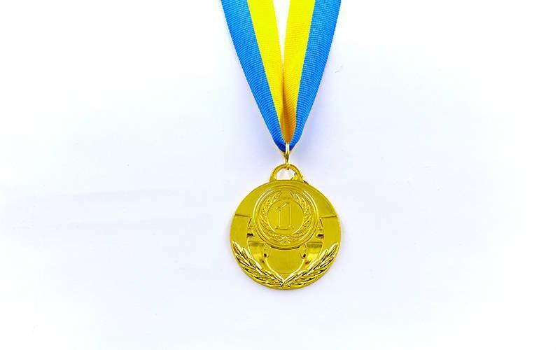 Медаль спортивная с лентой AIM d-5см C-4842 (металл, 25g, 1-золото, 2-серебро, 3-бронза)