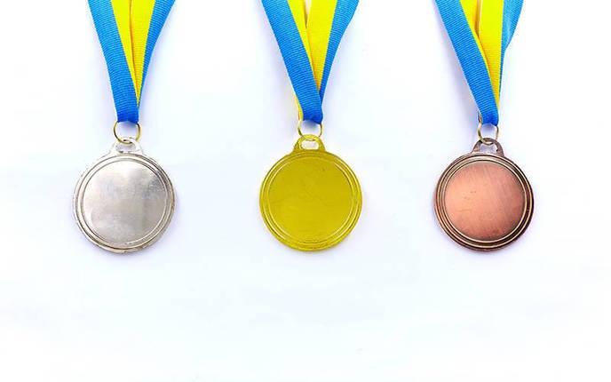 Медаль спортивная с лентой AIM d-5см C-4842 (металл, 25g, 1-золото, 2-серебро, 3-бронза), фото 2