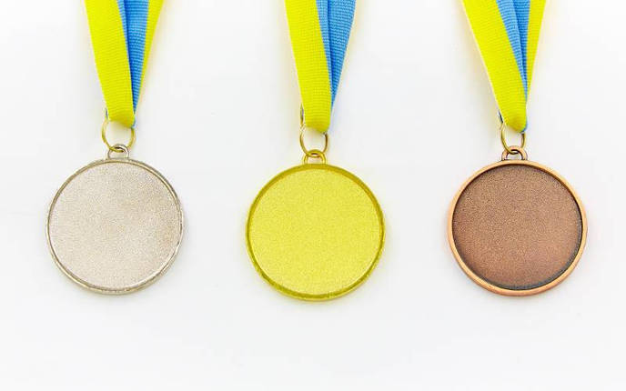 Медаль спортивная с лентой FURORE d-5см C-4868 (металл, d-5см, 25g золото, серебро, бронза), фото 2