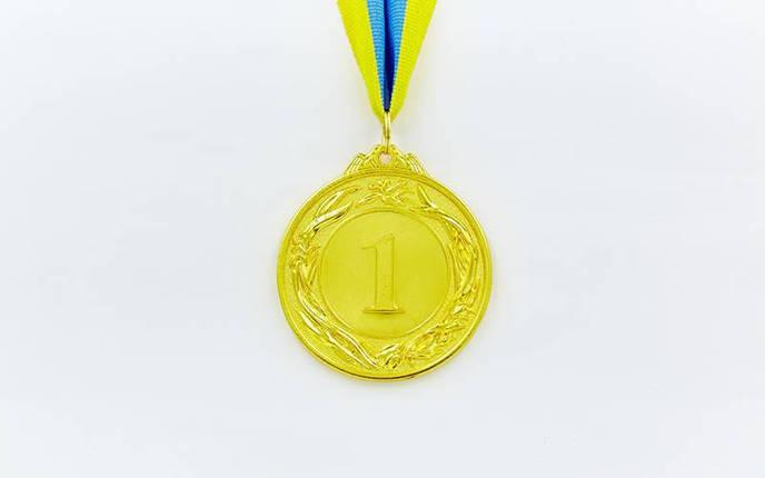 Медаль спортивная с лентой GLORY d-6,5см C-4327 (металл, d-6,5см, 40g золото, серебро, бронза), фото 2