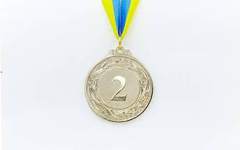 Медаль спортивная с лентой GLORY d-6,5см C-4327 (металл, d-6,5см, 40g золото, серебро, бронза), фото 3