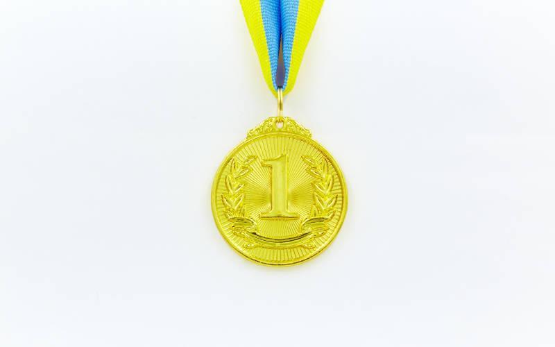 Медаль спортивная с лентой LIBERTY d-5см C-4872 (металл, d-5см, 25g золото, серебро, бронза)