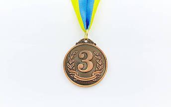 Медаль спортивная с лентой LIBERTY d-5см C-4872 (металл, d-5см, 25g золото, серебро, бронза), фото 2