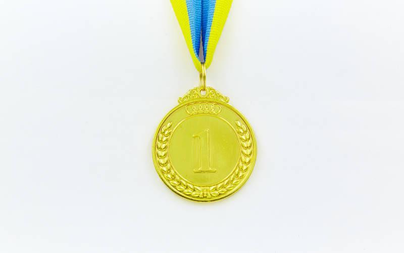 Медаль спортивная с лентой START d-5см C-4333 (металл, d-5см, 27g цвета в ассортименте)