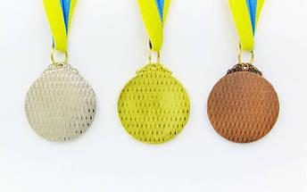 Медаль спортивная с лентой START d-5см C-4333 (металл, d-5см, 27g цвета в ассортименте), фото 2