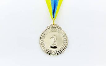 Медаль спортивная с лентой START d-5см C-4333 (металл, d-5см, 27g цвета в ассортименте), фото 3