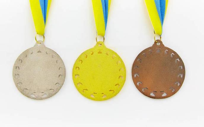 Медаль спортивная с лентой STROKE d-6,5см C-4330 (металл, d-6,5см, 44g золото, серебро, бронза), фото 2