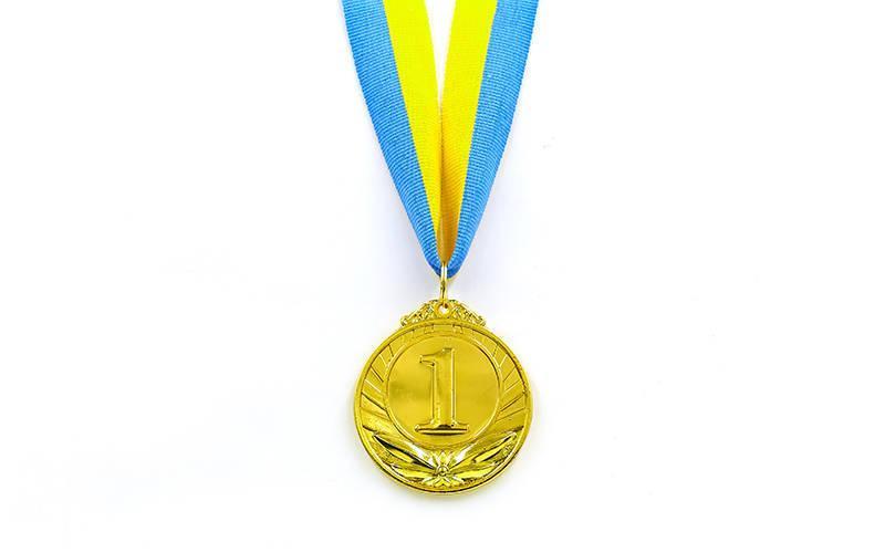 Медаль спортивная с лентой TRIUMF d-5см C-4871 (металл, d-5см, 25g золото, серебро, бронза)