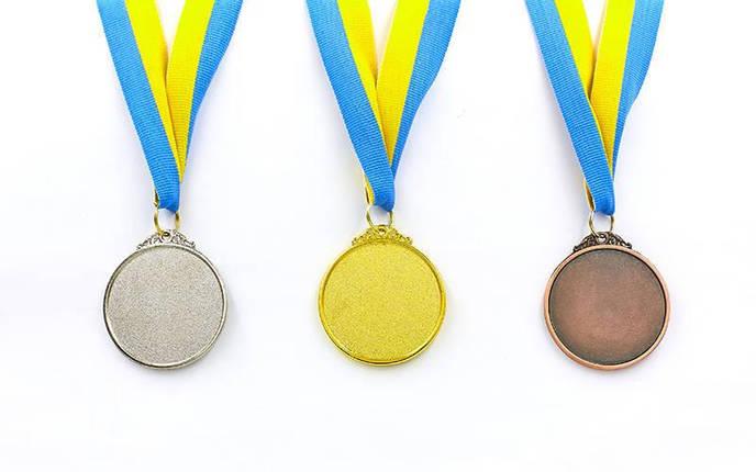 Медаль спортивная с лентой TRIUMF d-5см C-4871 (металл, d-5см, 25g золото, серебро, бронза), фото 2