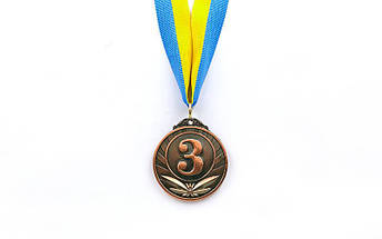 Медаль спортивная с лентой TRIUMF d-5см C-4871 (металл, d-5см, 25g золото, серебро, бронза), фото 3