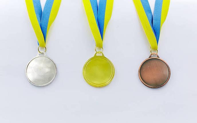 Медаль спортивная с лентой AIM  d-5см Боулинг C-4846-0006 (металл, 25g, 1-золото, 2-серебро, 3-бронза), фото 2