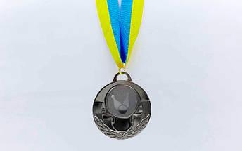 Медаль спортивная с лентой AIM  d-5см Боулинг C-4846-0006 (металл, 25g, 1-золото, 2-серебро, 3-бронза), фото 3