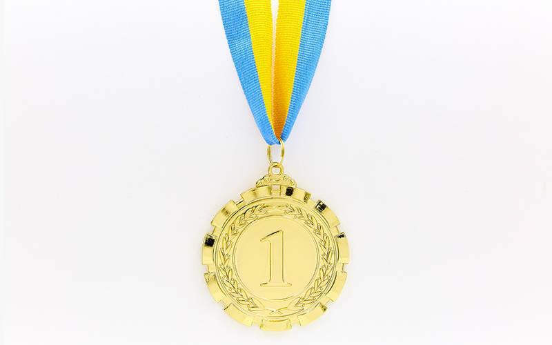 Медаль спортивная с лентой PREMIER d-6,5см C-6861 (металл, d-6,5см, 38g, 1-золото, 2-серебро, 3-бронза)