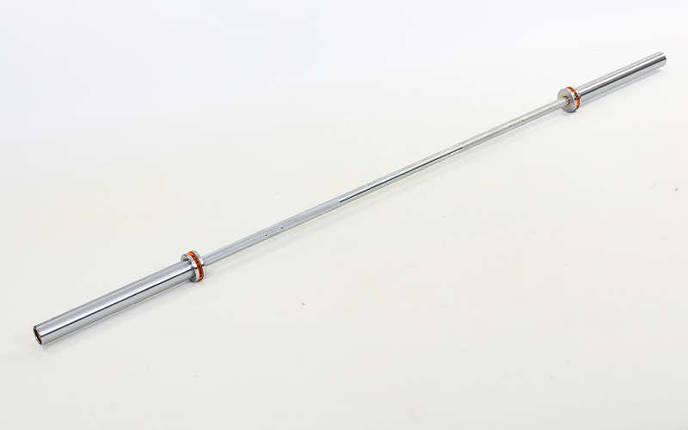 Гриф для штанги Олимпийский профессиональный для Кроссфита TA-6283 (l-2,18м, рук.d-50мм, 20кг)OB86PM, фото 2