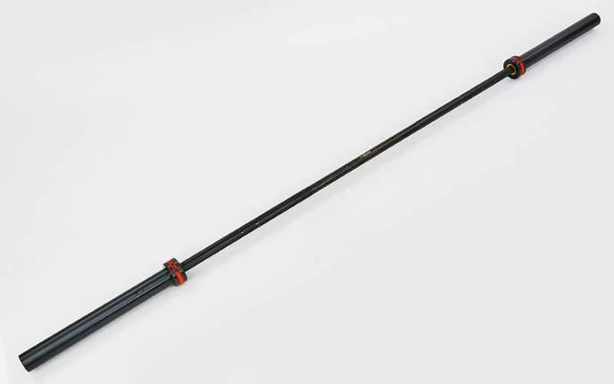 Гриф для штанги Олимпийский профессиональный для Кроссфита TA-7243 (l-2,20м, гр.d-28мм,20кг, нагрузка до 680кг, 8 подшипник с латунной втулкой)OB86-MP, фото 2