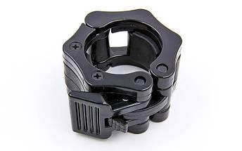 Замки (2шт) Lock-Jaw PRO с фиксатором для грифа 50мм CL-24 (пластик, цена за 2 шт.), фото 3