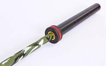 Гриф для штанги Олимпийский профессиональный для Кроссфита TA-7233 (l-2,20м, гр.d-28мм,20кг, нагрузка до 680кг, 6 подшип.с латунной втулкой)OB86-PCMC, фото 3