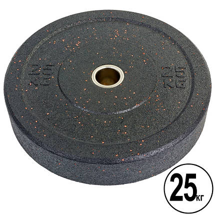 Бамперные диски для кроссфита Bumper Plates из структурной резины d-51мм RAGGY ТА-5126-25 25кг, фото 2