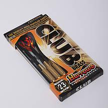 Дротики для игры в дартс цилиндрические CLUB BRASS SOFTTIP D105 HARROWS (сталь, 3шт.,+3хвост,+3опер), фото 3