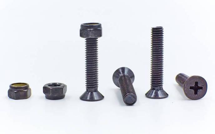 Винты для скейтборда SK-2162 (металл, 8 винтов М5х26, 8 гаек М5, черный), фото 2