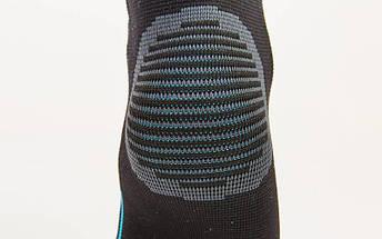Голеностоп эластичный (1шт) TVFF 904101 (полиамид, спандекс, р-р S-XL, черный-голубой), фото 3