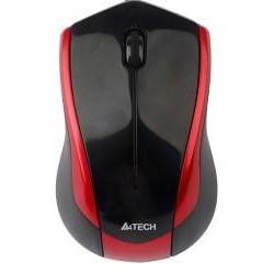 Мышь A4Tech N-400-2 черно-красная V-Track USB