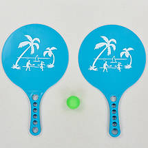 Набор ракетки и мячик для пляжного тенниса MT-0491 (пластик, размер 33,5x20см, 2 ракетки + 1 мячик), фото 3
