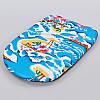 Доска для плавания EVA D18 (EVA, р-р 44x30x4см, синий), фото 3